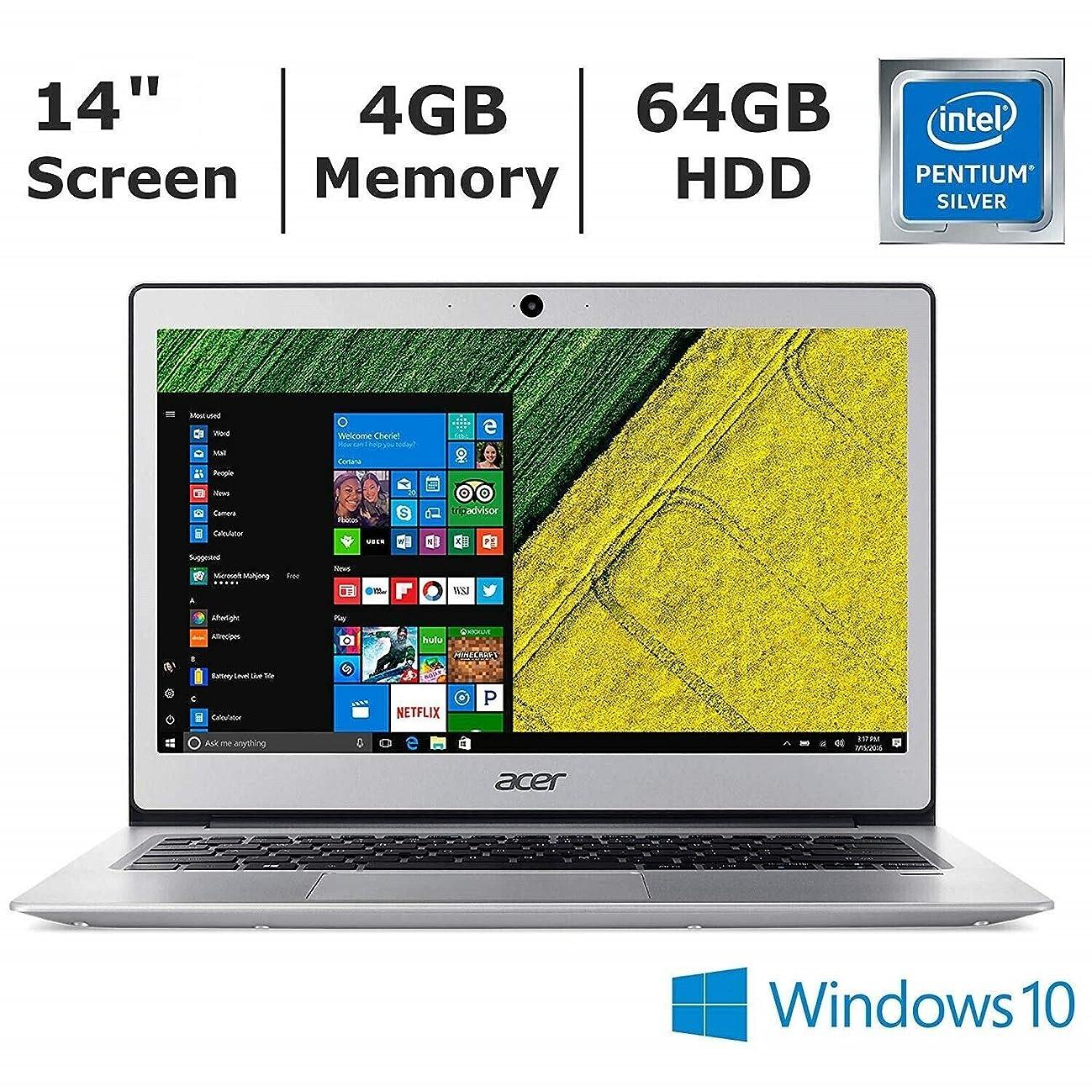 Acer Swift 1 Laptop, 14in Full HD (1920 x 1080), Intel Pentium Silver N5000 Quad-Core, 4GB RAM, 64GB Flash Memory Internal Storage, Windows 10 Home (Renewed)