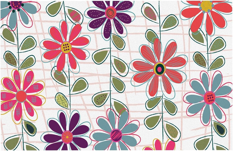 KESS InHouse JH2008ADM02 Jolene Heckman Fall Flowers Floral Dog Place Mat, 24  x 15