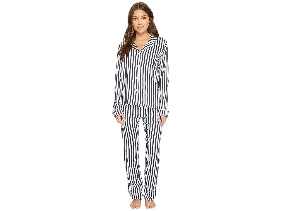 P.J. Salvage Soul Mates Striped PJ Set (Navy) Women