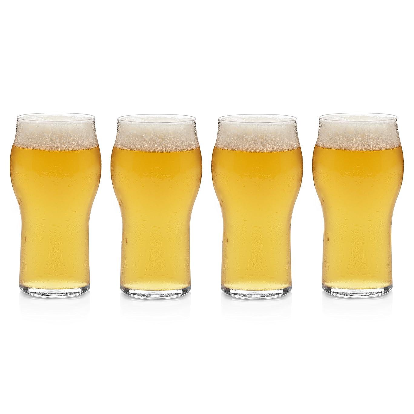 プロペラスキッパー十分なLibbey Urban Story 4ピーススタッカブルビールガラスセット