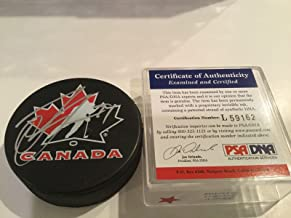 Signed Steven Stamkos Hockey Puck - Team Canada 1A - PSA/DNA Certified - Autographed NHL Pucks