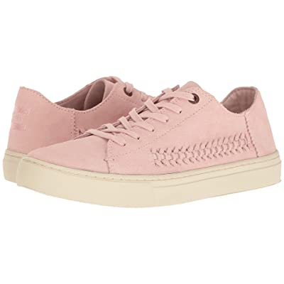 TOMS Lenox Sneaker (Pale Pink Deconstructed Suede/Woven Panel) Women
