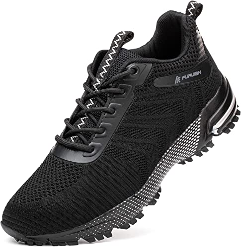 Furuian Steel Toe Shoes for Men Womens,Lightweight Safety Shoes Breathable Construction Sneakers,Puncture Proof,Slip Resistant,Indestructible Woker Shoes