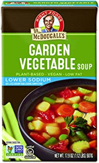 Dr. McDougall's Right Foods Lower Sodium Garden Vegetable Soup, 17.9 Ounce (Pack of 6) Vegan, Gluten-Free, Non-GMO, No Add...
