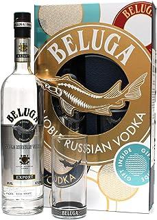Geschenkset BELUGA Noble Russian Vodka mit Longdrink - Highball Glas 1 x 0,7L