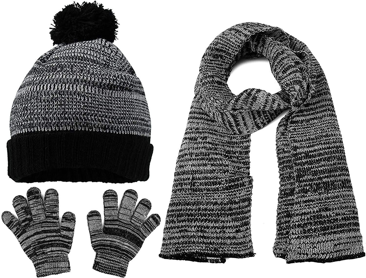 S.W.A.K. Girls Knit Hat, Scarf and Gloves Set