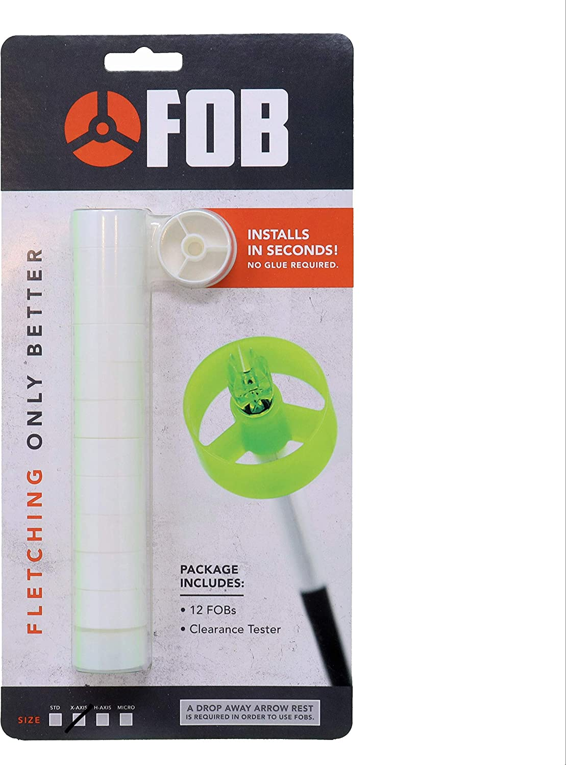 FOB Archery Quick Fletch - X-Axis Size X or A - 12 per Pack (White) : Sports & Outdoors