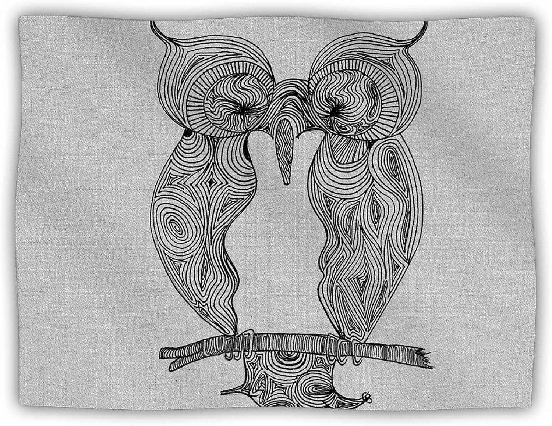 Kess InHouse Belinda Gillies Owl Dog Blanket, 60 by 50Inch
