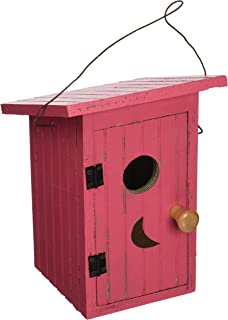 Songbird Essentials 008114 Birdie Loo Birdhouse Red
