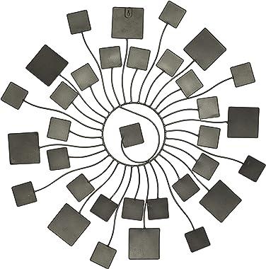 "Deco 79 Multicolored Modern Metal Abstract Sunburst Wall Decor, H x 32"" L, Textured Finish, 32"" 32"" L"