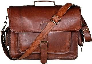 Cuero 16 Inch Retro Buffalo Hunter Leather Laptop Messenger Bag Office Briefcase College Bag (brown)