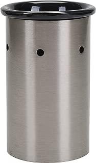 Elanze Designs Brushed Silvertone Metal Electric Wax Tart and Oil Warmer