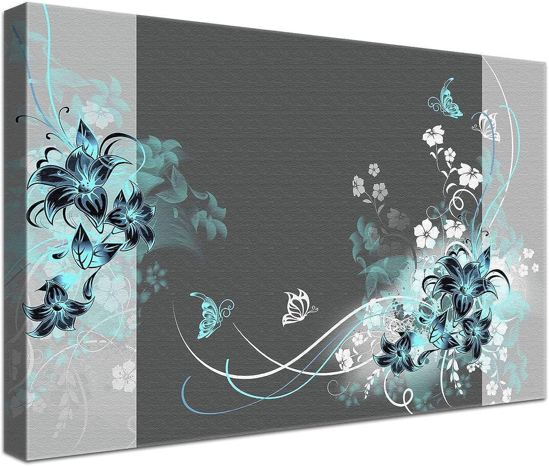 LANA KK Luxus Ausführung Liebevoll Grau Türkis    Abstraktes Design auf 4cm Echtholz, Turkish, 150 x 100 cm B074SXRCW6   Kunde zuerst  694172
