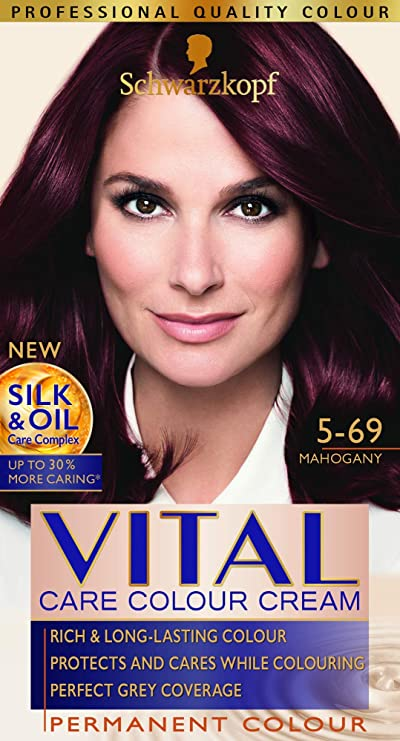 Vital Colors Schwarzkopf Tinte para el cabello de color vital, caoba 5-69, paquete de 3