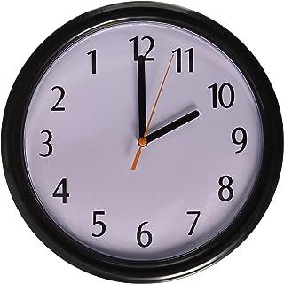 Rhode Island Novelty Backwards Wall Clock, One Size, Black