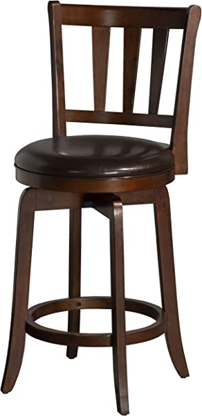 Hillsdale Furniture 4478 827 Hillsdale Presque Isle Swivel Counter Stool Height Cherry