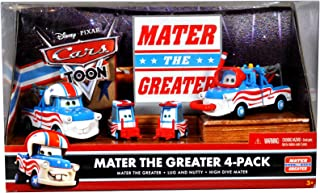 Disney / Pixar CARS TOON Exclusive Die Cast Car 4Pack Mater The Greater Mater the Greater, Lug, Nutty & High Dive Mater