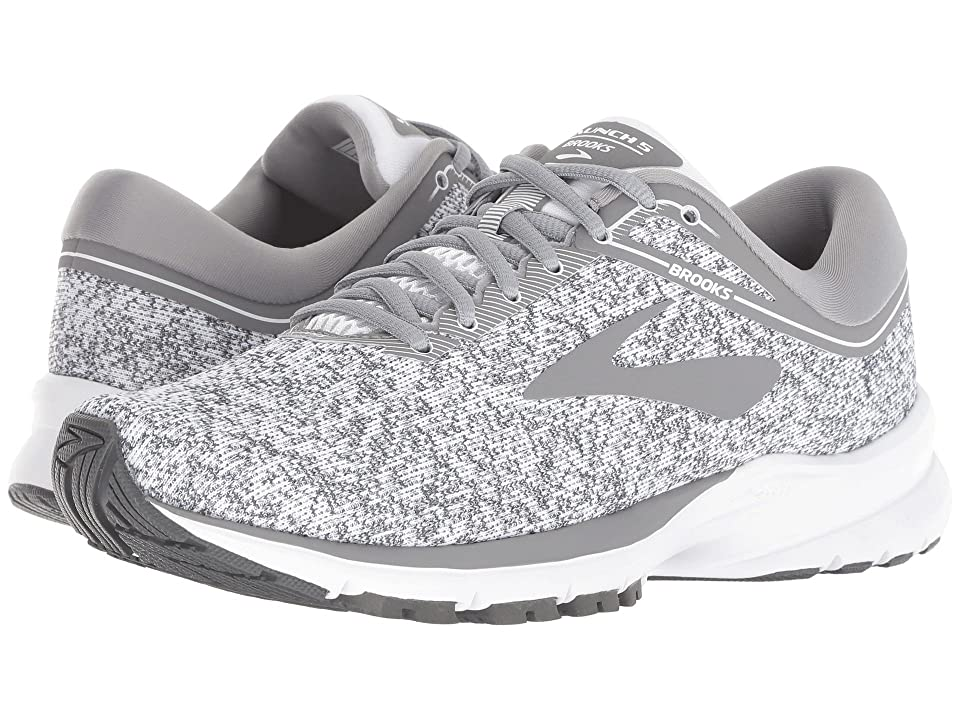 ab18d83d73f Brooks Launch 5 (White Grey Ebony) Women s Running Shoes