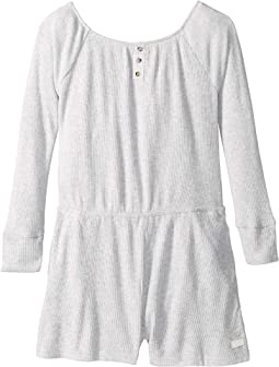 Brushed Rib Knit Romper (Big Kids)