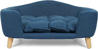 Great Deal Furniture Samuel Mid Century Small Plush Pet Bed