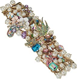 Betsey Johnson - Blooming Floral and Pearl Statement Bracelet
