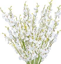 Trimgrace 10pcs Faux Orchid Silk Flowers Artificial Dancing Lady Orchids Long Stems Flower for Wedding Home Party Office P...