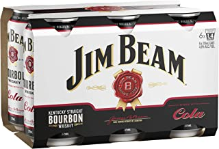 Jim Beam White Label Bourbon & Cola Cans, 375ml (Pack Of 6)