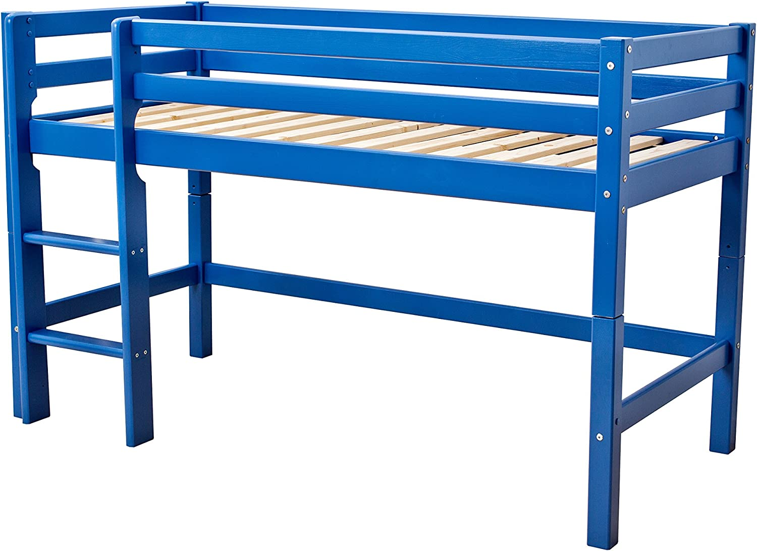 Hoppekids halfhigh, Play, Cabin Bed, mid Sleeper, Solid Pinewood, 90 x 200 cm, bluee, Wood, Single