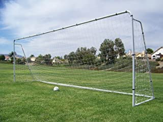 Pass Official Size 24 X 8 X 5 Ft. Steel Soccer Goal. Heavy Duty Frame w/Net. Tournament, Regulation FIFA/MLS Size. Professional Portable Practice Training Aid. 24 X 8, 24x8(1Net)