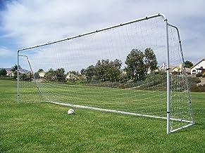 Pass Official MLS/FIFA Size 24 X 8 X 5 Ft. Steel Soccer Goal. Heavy Duty Frame w/Net. Tournament, Regulation Size Goals. P...