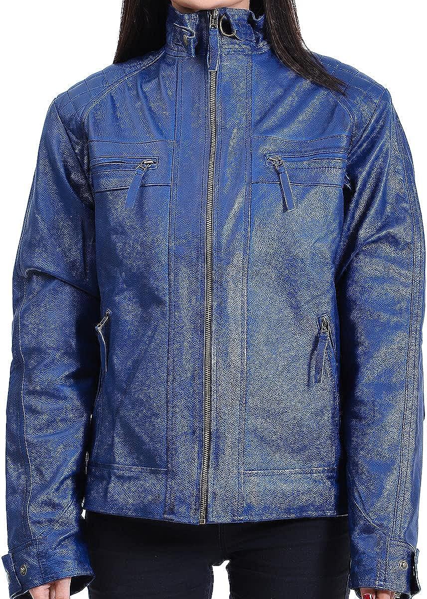 Kara Hub Leather Jacket for Women, Faux PU Leather, Leather jacket Women for casual look, party wear and bike riding