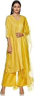 Varanga Women's silk straight Salwar Suit Set
