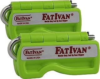 The Original Fat Ivan Fold Up Doorstop Wedge with Magnet - Green (2 Pack)