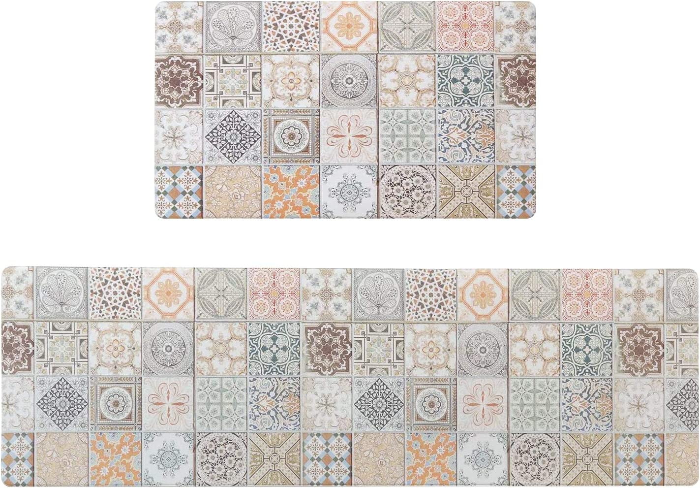 Ailsan Bohemia Anti Fatigue Kitchen Department store Rugs and Mats Piece Set 1 Omaha Mall 2