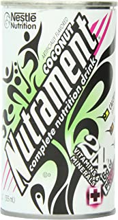 Nutrament Energy and Fitness Drink, Coconut, 12 Ounce Cans (Pack of 12)