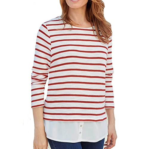better new release 100% high quality Red Striped Top: Amazon.co.uk
