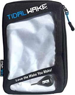 Tidal Wake Padded Fin Wallet & Key Fin Storage, Store, Organize & Protect Fin Sets Holds 1-3+ Fins, Key Pocket & Hex Key Included, Holds Fins for Skim and Surf Style Wake Boards and Ocean Shortboards