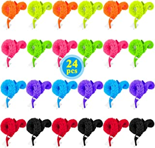 HAPTIME 24 Pcs Magic Worm with Wiggle Eye Twisty Fuzzy Trick Toy Classic Party Favors Bag Fillers Christmas Stocking Stuffer Gifts Assorted Colors for Kids Children , Funny Cute Soft Pet Toys