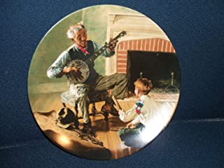 "Norman Rockwell: ""The Banjo Player"" Rockwell's Heritage Collection ""--Authentic Registered Collectible Plate"