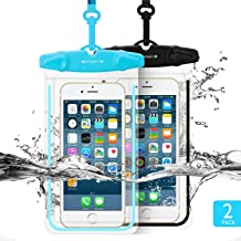 Universal Waterproof Case FITFORT 2 Pack Universal Dry Bag/Pouch Clear Sensitive PVC Touch Screen for iPhone X 8 Plus Gala...