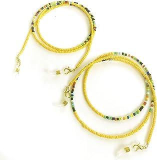حامل نظارات شمسية من Els Essentials Mask Gl Chain للنساء من قطعتين