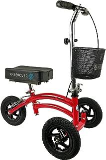 Small Petite Adult All Terrain KneeRover Jr - Steerable Knee Walker Knee Scooter Crutches Alternative in Red