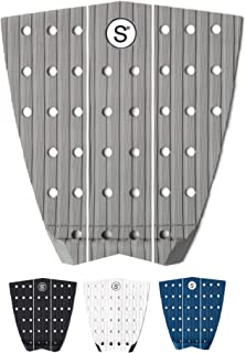 SYMPL Surfboard Traction Pads • 3 Piece Deck Grips for Surfboard, Skimboard, Longboard Deck • Maximum Grip Stomp Pad • 3M Adhesive • Fits Surf, Skim Board, Long Deck, Wakesurf and Fish Boards