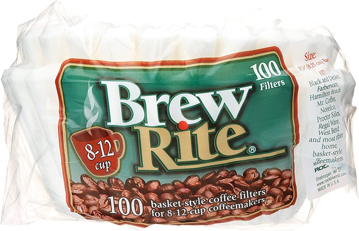 Brew Rite Basket Style Coffee Filter 100 Ct