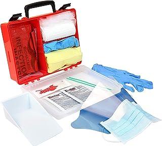 "Rapid Care First Aid 839BBK-1 Premium Blood Borne Pathogen & Bodily Fluid Spill Kit, OSHA Compliant, Wall Mountable, 10"" x 8"" x 3 1/2"""