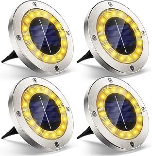 Lampe Spots Solaire Extérieur Jardin, 4Pack VIRIDI 16 LED Lumière Solar Projecteur Éclairage Exterieur IP65 Etanche Sans F...