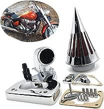 HTTMT MT234-CHROME Intake Spike Air Cleaner Kits Compatible with 2002-2009 Honda Vtx 1800 R S C N F Chrome