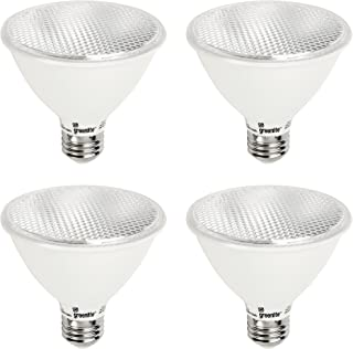 LED PAR30 Short Neck Dimmable Flood Light Bulb, 11W (75W Equivalent), 900 Lumens, 3000k Bright White, 120V, Indoor/Outdoor, Energy Star Certified, UL Listed (4 Pack)