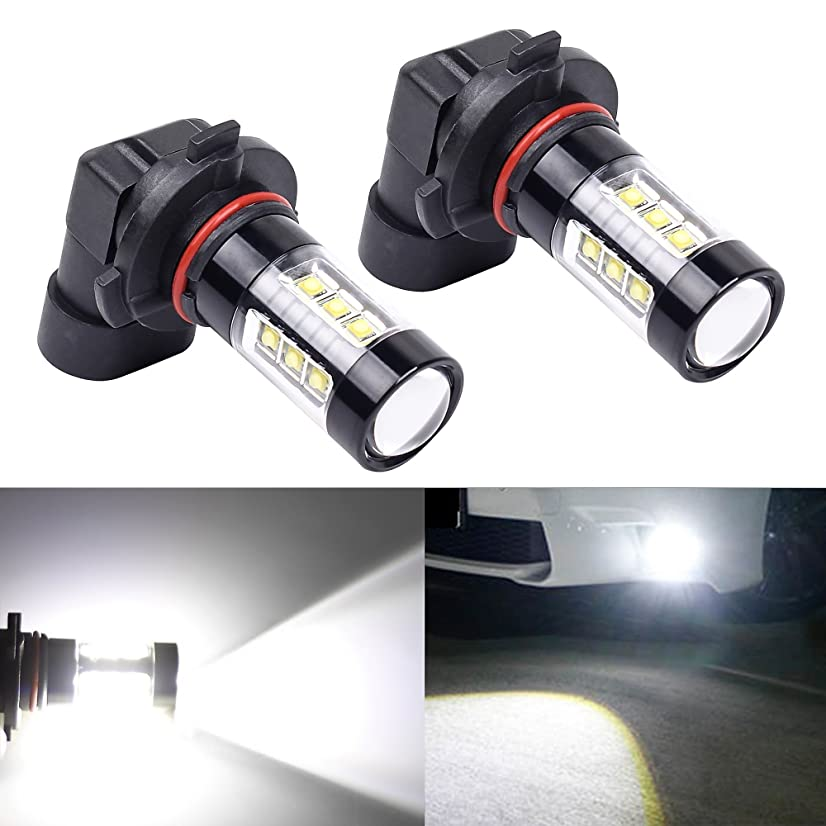 XSPEED Lighting H10 LED Fog Light Bulb 80w High Power Extremely Bright CREE Chips 9140 9145 LED Bulbs Xenon White for DRL or Fog Lights