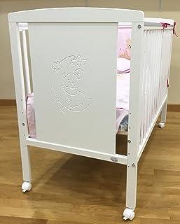 Cuna para bebé, modelo Oso Dormilón + Colchón Viscoelá